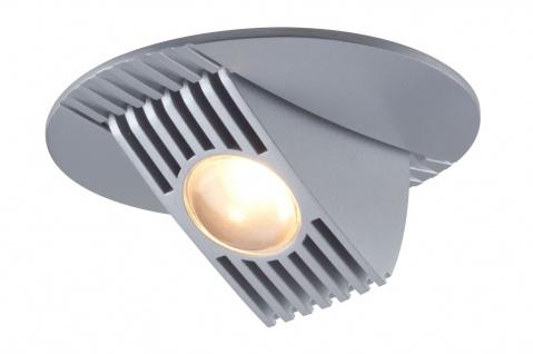 Paulmann Premium Einbauleuchte Set Bow LED kippbar 65° 1x5W 230V/350mA 100mm Chrom matt/Alu