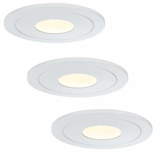 Paulmann Premium Einbauleuchte Set Daz starr LED 3x5, 5W 30VA 230V/700mA 110mm Weiß m./Metall
