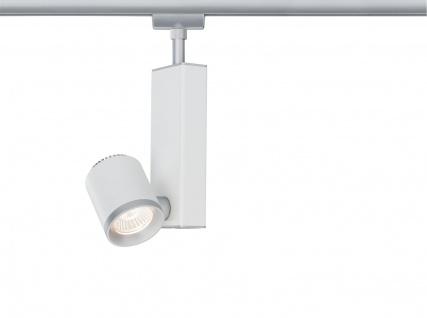 Paulmann 952.10 URail Schienensystems Spot TecLED II 1x6, 5W Chrom matt/Weiß 230V Metall