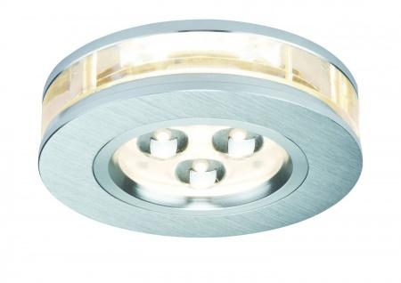 Paulmann 925.40 Premium Einbauleuchte Liro rund LED 1x3W 350mA 90mm Alu gebürstet/Klar