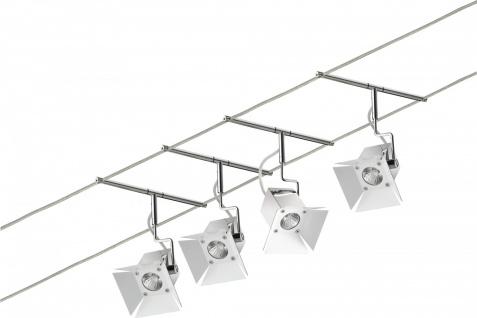 940.74 Paulmann Seil Komplett Set Wire System Movie 4x35W GU4 Chrom 230/12V 150VA Metall