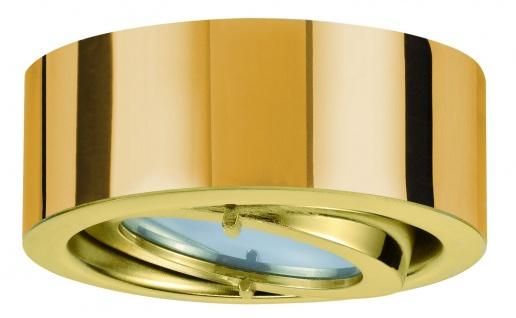 Paulmann Möbel Aufbauleuchte Dress schwenkbar max.20W 12V G4 70mm Gold/Alu
