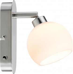 Paulmann 602.94 Spotlights Wolbi LED Balken 1x3W GZ10 230V Eisen gebürstet/Weiß Metall/Glas