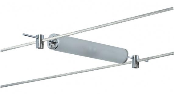7053 Paulmann Seil Zubehör Wire System Light&Easy Spot Pipeline 2x10 W G4 Chrom/Satin12V Metall/Glas
