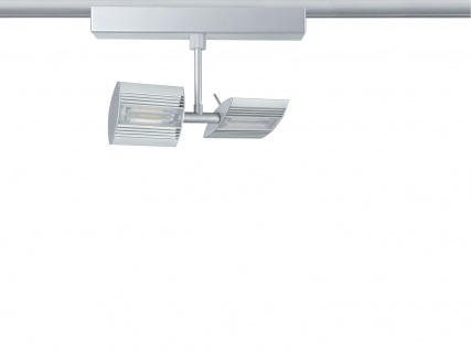 Paulmann 950.38 URail Schienensystem Light&Easy Spot Linear 2x6W Chrom matt 230V Metall