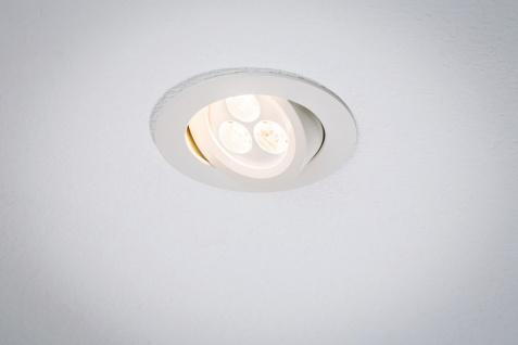 Paulmann 926.04 Premium Einbauleuchte Snowy schwenkbar LED 1x3, 6W 350mA 95mm Weiß matt/Alu