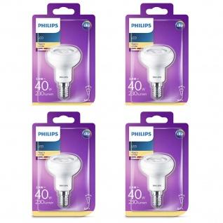 4er Pack 8718696578452 4er Set Philips Reflektor mit Drehsockel, 2, 9 W (40 W), E14, warmweiß, Reflektor
