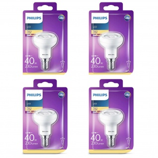 4x Philips 8718696578452 Reflektor mit Drehsockel, 2, 9 W (40 W), E14, warmweiß, Reflektor