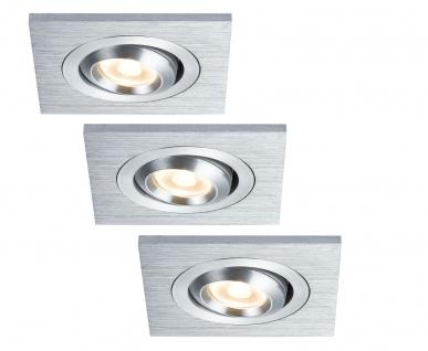 Paulmann 925.24 Premium Einbauleuchte Set Drilled Alu LED eckig schwenkbar 3x3W 700mA 60x60mm Alu gebürstet/Alu