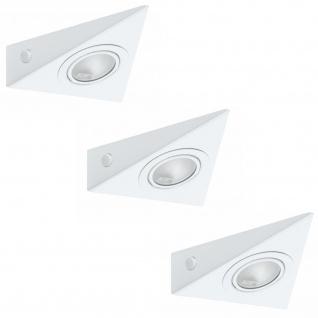 Paulmann Möbel Aufbauleuchte Set 3eck. 3x20W 60VA 230/12V G4 Weiß Metall/Glas