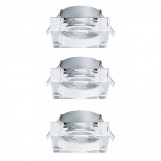 925.97 Paulmann Einbauleuchten 2Easy Premium EBL 3er Spot-Set Cristal Quadro starr 51mm Klar/Glas
