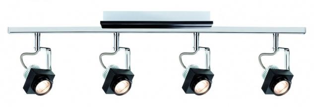 Paulmann 602.58 Spotlight Phase Stange 4x5W Schwarz Chrom 230V Metall