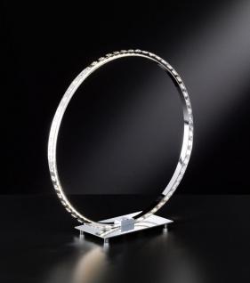 18W LED Tischleuchte Kristal Rund1600 Lumen inkl Touch Dimmer