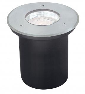 Paulmann Spec Einbauleuchte Set Boden überfahrb Energiesparlampe IP67 7W 230V GX53 Disc 140mm Edelstahl/Metall