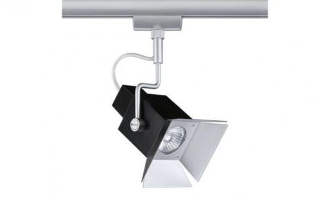 950.40 Paulmann U-Rail Einzelteile URail System Light&Easy Spot Cinema max.50W GU10 Chrom matt/Schwarz 230V Metall