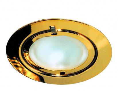 Paulmann Möbel Einbauleuchte Klipp Klapp max.20W 12V G4 75mm Gold/Stahlblech/Glas