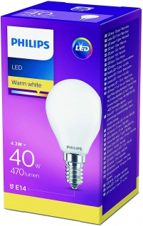 4er Pack LED Leuchtmittel 8718699613013 Philips Tropfenform 4, 3W entspricht 40W 470 Lumen E14 warmweiß nicht dimmbar, Tropfenform - Vorschau 2