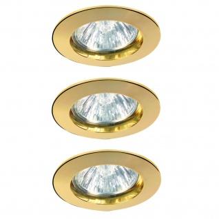 Paulmann 993.18 Premium Einbauleuchte Set 3x35W 105VA 230/12V GU4 35mm Gold/Alu Zink
