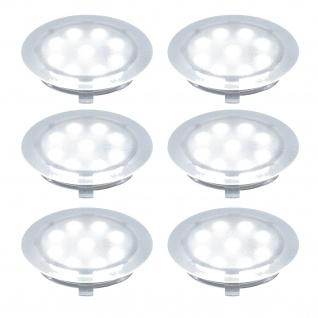 6er Set Paulmann Boden LED Einbauleuchte 1W Einbauspot Strahler