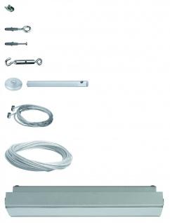 976.40 Paulmann Seil Komplett Set Wire System Light&Easy GEO Basissystem 60 12m Chrom matt 230V 60VA Metall
