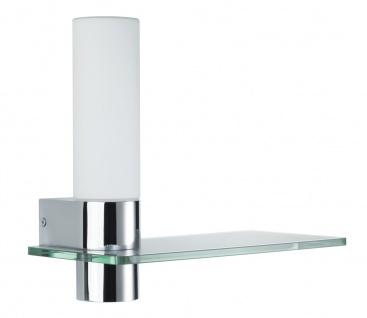 Paulmann 706.08 WallCeiling Asterion IP44 Glasab. LED 4, 5W 425mm Chrom/Opal 230V Metall/Glas