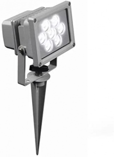 Buenos Aires LED Strahler Hi Lite 7W inkl. Erdspieß Gartenstrahler IP65 Silber 4000K