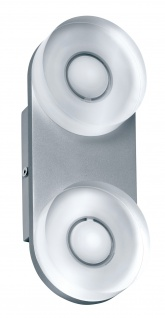 WallCeiling rund Tucana IP44 LED 1x9W Alu eloxiert/Klar 230V Metall/Acryl