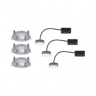 Paulmann 929.32 Premium Einbauleuchte Set Name starr dimmbar LED 3x6, 8W 2700K 230V Alu gebürstet