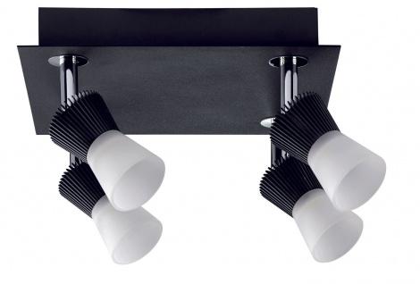 Paulmann 602.03 Spotlight Konos LED Rondell 4x3W Schwarz 230/12V Metall/Glas