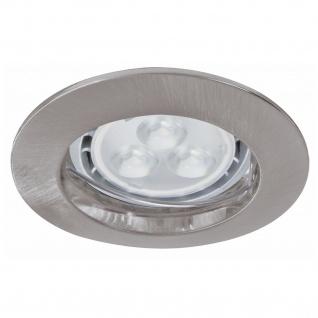 Paulmann 926.58 Premium Einbauleuchte Set starr LED 3x4W 230V GU10 51mm Eisen gebürstet/Alu zink