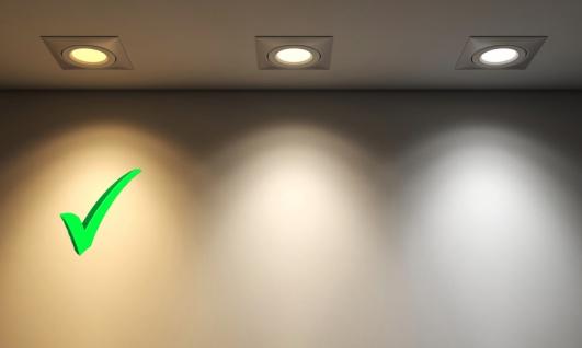 MILI 6er Set LED Leuchtmittel 7W GU10 3000K Warmweiss 230V 490lm Weiß dimmbar entspricht 50W Halogen - Vorschau 3