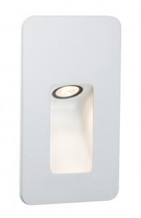 Paulmann Special Einbauleuchte Set IP44 Wand Slot LED 2, 4W 230V 90mm Weiß matt/Alu