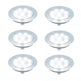 Paulmann 987.97 Special Einbauleuchte Set UpDownlight LED 6x1W 230/12V 45mm Transparent/Kunststoff