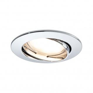 Paulmann Einbauleuchte Set Coin dimmbar satiniert rund schwenkbar LED 3x7W 2700K 230V 51mm Chrom/Alu Zink