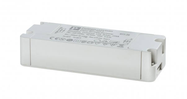 Paulmann 977.26 LED Trafo Transformator Konstantstrom 350mA 15W dimmbar Weiß