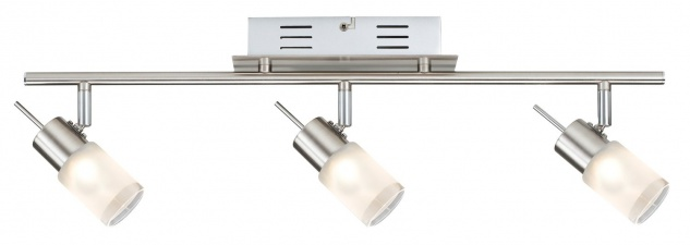 Paulmann Spotlights ZyLed Balken 3x3W Eisen gebürstet 230V/12V Metall/Glas