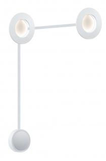 Paulmann 938.21 Special Einbauleuchte Set Corona LED 2x4, 5W 230/12V 160mm Weiß matt/Alu druckg