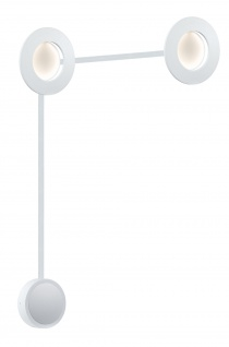 Paulmann Special Einbauleuchte Set Corona LED 2x4, 5W 230/12V 160mm Weiß matt/Alu druckg