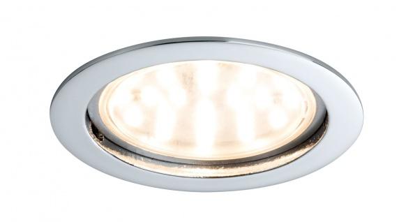 Paulmann Premium Einbauleuchte Set Coin klar rund starr LED 1x14W 2700K 230V 75mm Chrom/Alu Zink
