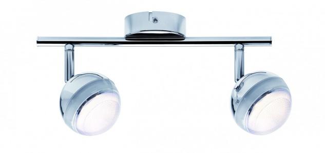 Spotlight Scoop LED 2x4, 6W Chrom 230V Kunststoff