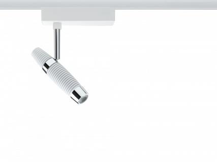 URail System Spot Channel II 1x8, 2W Weiß/Chrom 230V Metall