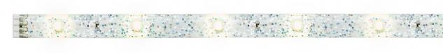 Paulmann 704.85 Function YourLED DECO Stripe Glitter 1m Warmweiß 2, 4W 12V DC Weiß Kunststoff