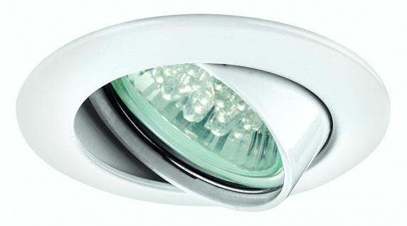 Paulmann Premium Einbauleuchte Set schwenkbar LED 1W 230V GU10 51mm Weiß/Alu Zink