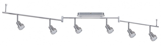 Paulmann 602.25 Spotlight Arioso Balken 6x3W Alu gebürstet 230V Metall - Vorschau 2