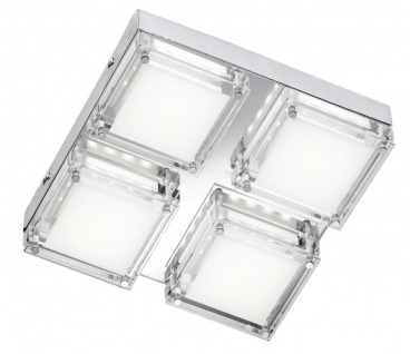 4701.04.01.0000 Wofi Deckenlampe Jette LED Deckenleuchte 3500K 4x3, 2W Warm Weiß
