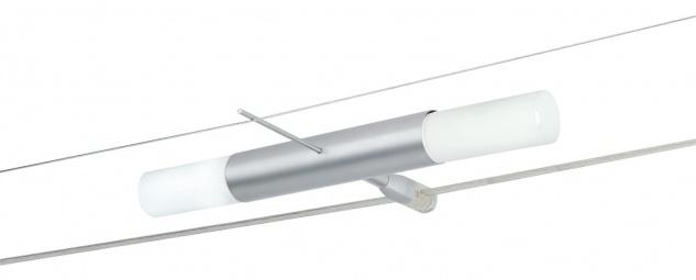 974.14 Paulmann Wire System Duo Spot Duetti II 2x11W Decopipe Chrom matt 230V