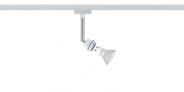 Paulmann 951.86 URail Schienensystem DecoSystems LED Spot 1x3, 5W GZ10 230V Weiß Metall