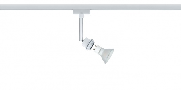 Paulmann URail Schienensystem DecoSystems LED Spot 1x3, 5W GZ10 230V Weiß Metall