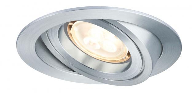 Premium EBL Set Drilled Alu rund schwb. LED 3x4W 230V GU10 51mm Alu gedreht