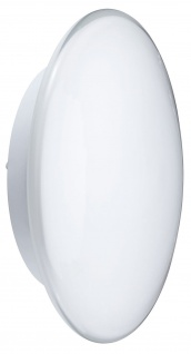 Paulmann 700.36 WallCeiling Aureola Kristallrand 2x11W E27 320mm Weiß 230V Metall/Opalglas